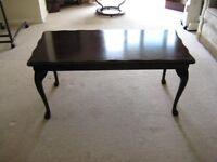 Reproduction mahogany veneer coffee table