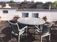 SCAB garden table and 4 chairs