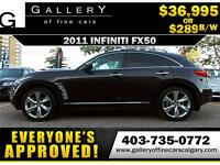 2011 Infiniti FX50 AWD $289 Bi-Weekly APPLY NOW DRIVE NOW