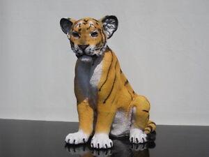 taxidermie bebe tigre en resine taille reelle trophee factice. Black Bedroom Furniture Sets. Home Design Ideas