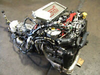 JDM SUBARU WRX STI EJ20 TURBO VERSION 8 ENGINE TRANSMISSION