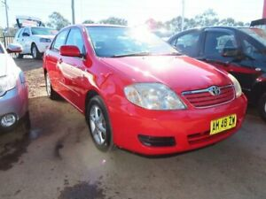 2006 Toyota Corolla ZZE122R 5Y Conquest Red 4 Speed Automatic Sedan Minchinbury Blacktown Area Preview