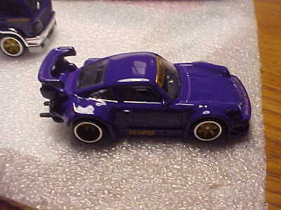Hot Wheels Mint Loose Team Transport Purple RWB Porsche 930 with Real Riders