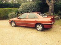 Low mileage red Peugeot 406 2.9 litre V6 auto for sale
