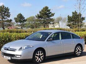 CITROEN C6 2.7 EXCLUSIVE V6 HDI 4d AUTO 202 BHP (silver) 2009