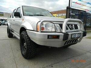 2003 Nissan Navara D22 MY2003 ST-R Silver 5 Speed Manual Dual Cab Williamstown North Hobsons Bay Area Preview