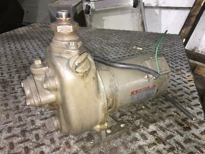 Mitsubishi Electric 1 HP AC Motor w/ Pump, SB-JRF, 200V, 3350RPM, Fr 71FF, Used