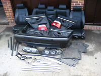 Job Lot BMW E39 M Sport Rear Bumper Black Leather Interior Angel Eyes Celis Lights Spoiler Dash Trim