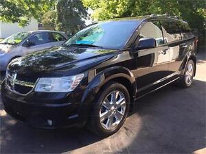 2010 DODGE JOURNEY R/T V6 AWD + 7 PASSAGERS +CUIR+GARANTIE UN AN