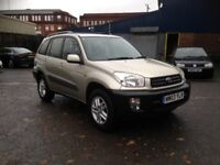 2003 TOYOTA RAV4 4X4 SUV 2.0 - 75K MILES, LONG M.O.T - PERFECT FOR WINTRY CONDITIONS