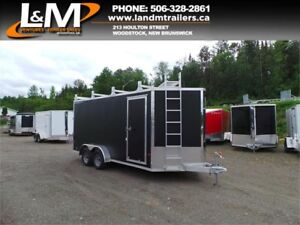 NEW 2017 STEALTH ALUMINIUM 7X16' ULTIMATE CONTRACTOR TRAILER