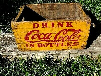 Early Coca Cola Bottle Wood Hutchinson Crate-Sign Very Nice!