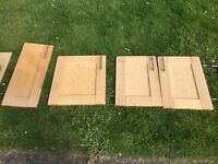 Kitchen cupboard doors (15) and draws set (5)- Solid wood