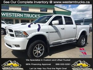 2012 Ram 1500 Sport ~ Lifted ~ Sunroof ~ Leather ~ $0dn $280 B/W