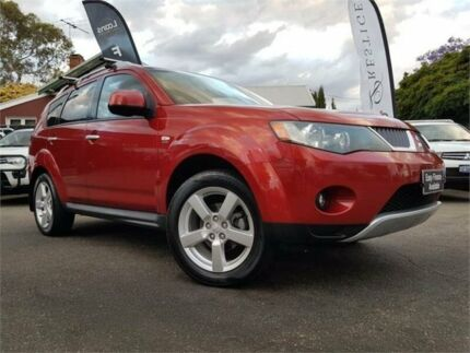 2009 Mitsubishi Outlander ZG MY09 XLS Burgundy 6 Speed CVT Auto Sequential Wagon Mount Hawthorn Vincent Area Preview