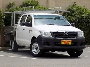 2013 Toyota Hilux TGN16R MY12 Workmate Double Cab White 5 Speed Manual Utility Blair Athol Port Adelaide Area Preview