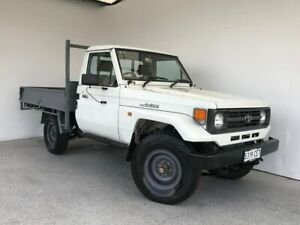 1996 Toyota Landcruiser HZJ75RP White 5 Speed Manual Cab Chassis Mount Gambier Grant Area Preview