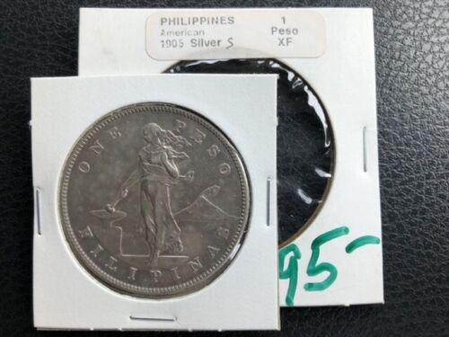 1905 S - Philippines - 1 Peso - XF