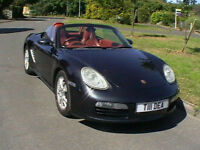 2005 PORSCHE BOXTER 2.7 CONVERTIBLE SPORTS CAR IN STUNNING BLACK FULL LEATHER