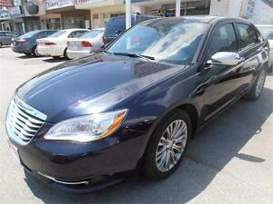 2012 Chrysler 200 Auto Leather Sunroof Blue  Only 54,000km