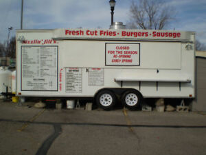 Fry truck trailer wagon chip food concession trailer Reduced