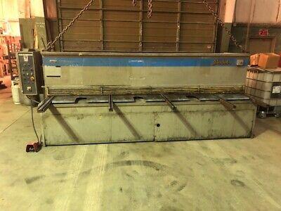 12 X 14 Baykal Hydraulic Shear 36 Powered Back Gauge Back Gauge Swings Up Hy