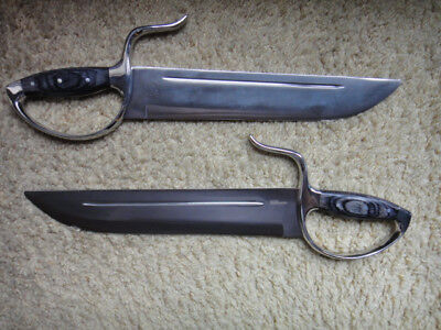 "WING CHUN BUTTERFLY KNIVES: FLAGSHIP V2 - Hybrid 12"" D2 Steel - LG Blunt"