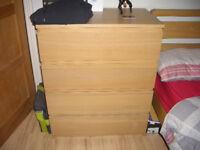 Ikea Light Oak Chest of Drawers