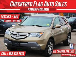2008 ACURA MDX SH AWD TECH PACKAGE W/ NAV-LEATHER-SUNROOF-CAM