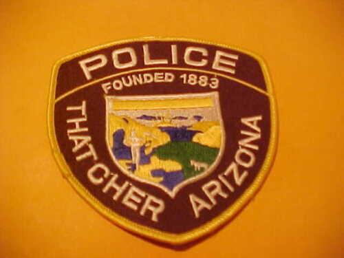 THATCHER ARIZONA POLICE PATCH SHOULDER SIZE UNUSED