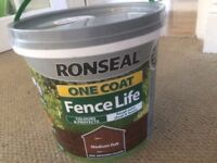 Ronseal One Coat Fence Life Paint - Medium Oak 5LTR - Just tested only