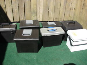 Four Storage box great for tools or small screws