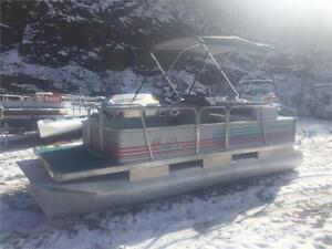 ***RARE MINI PONTOON*** CUTE AS A BUTTON 15X6 MINI PONTOON BOAT