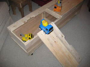 Toy Chest and Bench - Reclaimed Pallet Wood