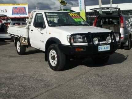 1998 Nissan Navara D22 DX (4x4) White 5 Speed Manual 4x4 Cab Chassis Derwent Park Glenorchy Area Preview