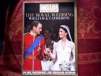 THE ROYAL WEDDING WILLIAM & CATHERINE SOUVENIR - HELLO MAGAZINE SPECIAL COLLECTORS EDITION