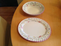 Johnson Summer Chintz oval serving plate and oval serving bowl - hardly used