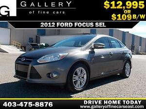 2012 Ford Focus SEL $109 bi-weekly APPLY NOW DRIVE NOW