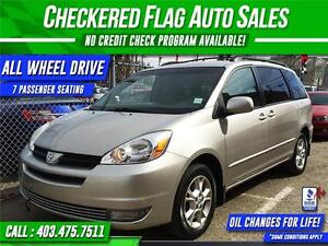 2005 TOYOTA SIENNA ALL WHEEL DRIVE-7 PASSENGER-PRICE REDUCED!