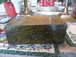 Lovely  Antique Dutch Small Portable Lap Top Writing Desk