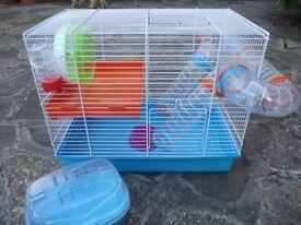 Complete Hamster Set Up Cage & Accessories in Excellent Condition
