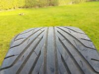 2 low profile Tyres. Good condition