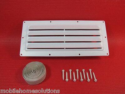 RV Parts Ventline Exterior Sidewall Vent Range Hood Stove White w/Install Kit - Install Range Hood Vent