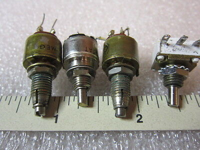 Lot of 4 used- Trimmer Resistor Trim Pot, (2) RV6LATSA, (1) RV6NAYSD, (1) other