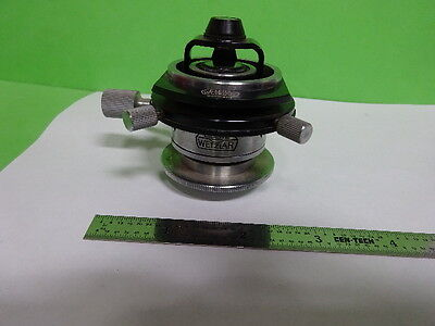 Microscope Ortholux Ernst Leitz Germany Condenser Diaphragm Iris As Is Af-e-55