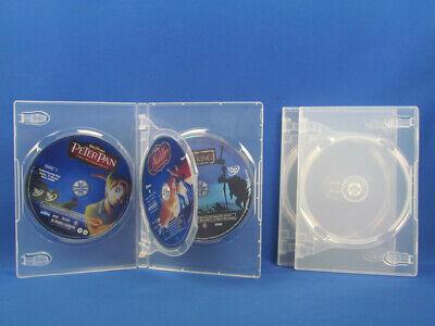 14mm Standard Clear Cd Dvd Disc Movie Storage Case Box Single Double Triple Quad