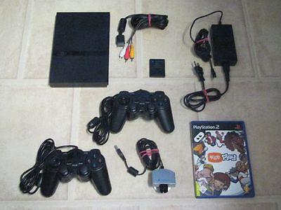 Playstation 2 Slim komplett mit 2 Controller + Spiel Eye Toy Play + Kamera (Kamera Slim Sony)