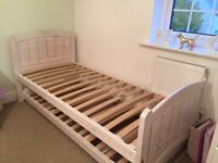 Lovely White Marks and Spencers Single Bed with hideaway Guest Bed and Mattress RRP £795