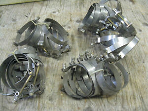 Stainless 4 & 5 Inch Hose Clamps Kawartha Lakes Peterborough Area image 1