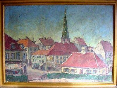 Kopenhagen , Freslers Kirk , Gemälde,  um 1900